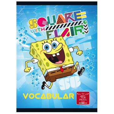 Vocabular, 12 x 17cm, 24 file, PIGNA Sponge Bob