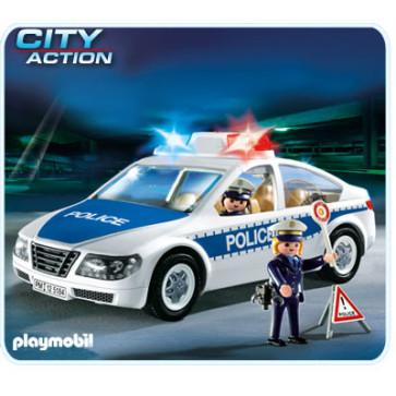 Masina de politie cu lumini, PLAYMOBIL Police