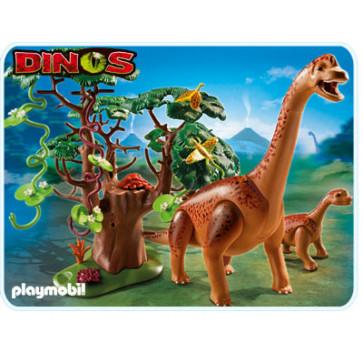 Brahiozaur cu pui, PLAYMOBIL Dinos