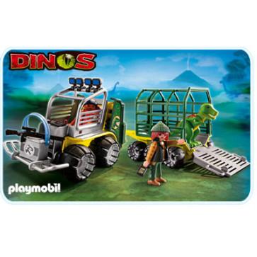 Vehicul de transport cu T-Rex, PLAYMOBIL Dinos
