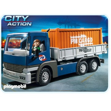 Camion cu container, PLAYMOBIL Transport
