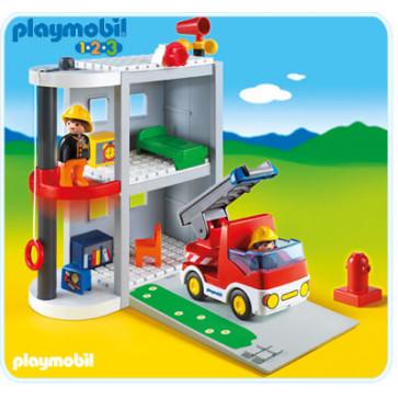 Set mobil post de pompieri, PLAYMOBIL 1.2.3