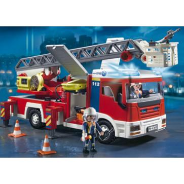 Masina de pompieri cu scara, PLAYMOBIL Fire Rescue