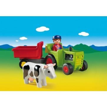 Fermier cu tractor, PLAYMOBIL 1.2.3