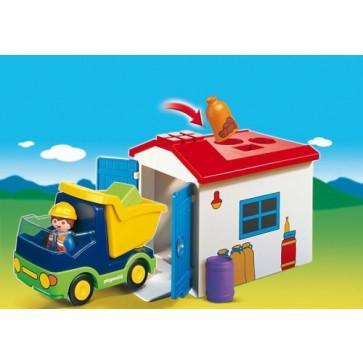 Camion cu garaj, PLAYMOBIL 1.2.3