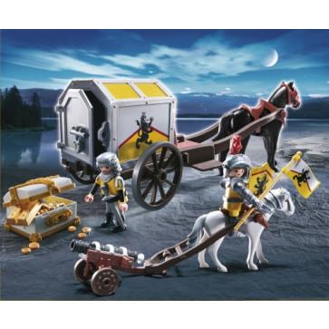 Transportul comorii cavalerilor lei, PLAYMOBIL Knights