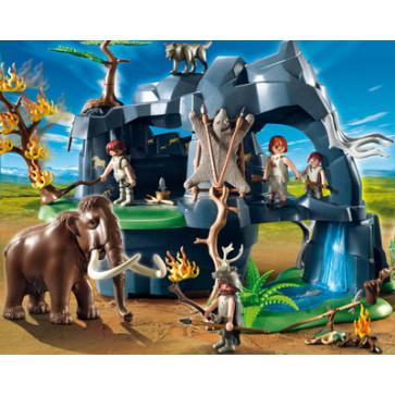 Pestera din evul mediu cu mamut, PLAYMOBIL Stone age