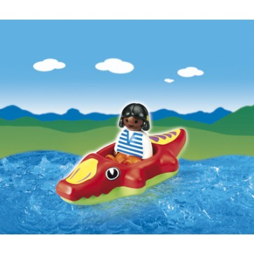 Copil cu barca, PLAYMOBIL 1.2.3