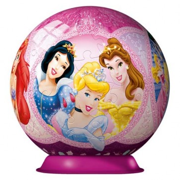 Puzzle 3D Printesele Disney, 108 piese, RAVENSBURGER Puzzle 3D