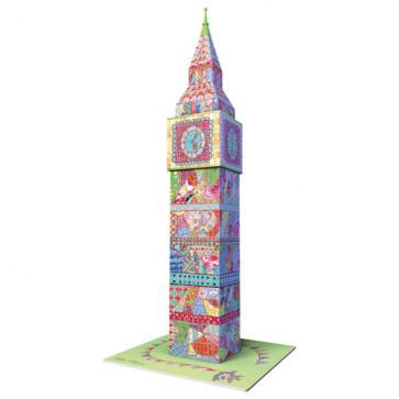 Puzzle 3D Big Ben colorat, 216 piese, RAVENSBURGER Puzzle 3D