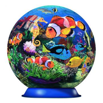 Puzzle 3D Oceanul culorilor, 108 piese, RAVENSBURGER Puzzle 3D
