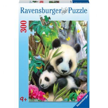 Puzzle Ursi panda, 300 piese, RAVENSBURGER Puzzle Copii
