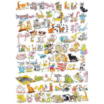 Puzzle 101, pisici si un soricel, 1000 piese, RAVENSBURGER Puzzle Adulti