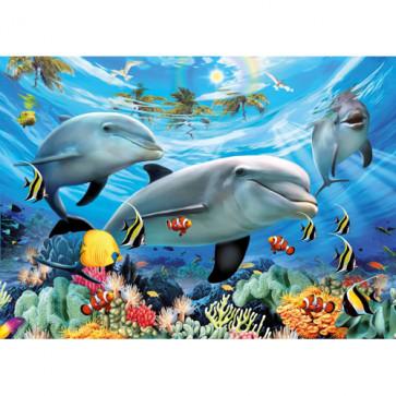 Puzzle Delfini, 300 piese, RAVENSBURGER Puzzle Copii
