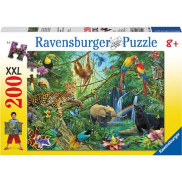 Puzzle Jungla, 200 piese, RAVENSBURGER Puzzle Copii