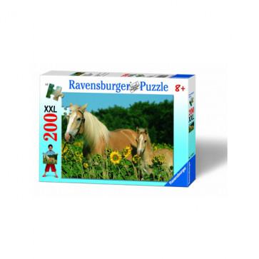 Puzzle Cai, 200 piese, RAVENSBURGER Puzzle Copii