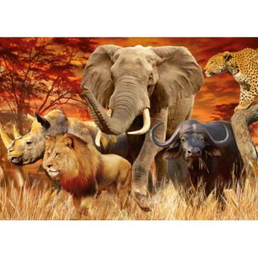 Puzzle cele cinci mari animale, 1000 piese, RAVENSBURGER Puzzle Adulti