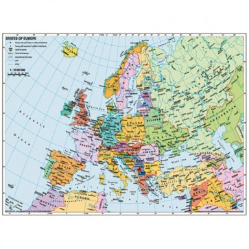 Puzzle Harta politica a Europei, 500 piese, RAVENSBURGER Puzzle Adulti