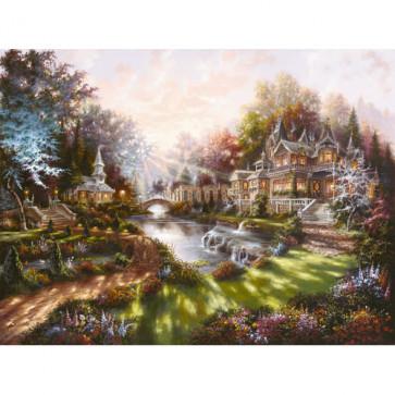 Puzzle revarsatul zorilor, 1000 piese, RAVENSBURGER Puzzle Adulti
