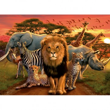 Puzzle Splendoare africana, 500 piese, RAVENSBURGER Puzzle Adulti