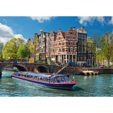 Puzzle turul canalului in Amsterdam, 1000 piese, RAVENSBURGER Puzzle Adulti