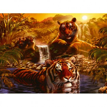 Puzzle tigri, 2000 piese, RAVENSBURGER Puzzle Adulti