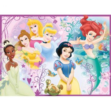 Puzzle Printesele Disney, 100 piese, RAVENSBURGER Puzzle Copii