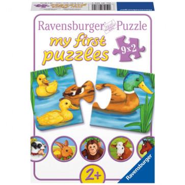 Puzzle animale adorabile, 9x2 piese, RAVENSBURGER Puzzle Copii