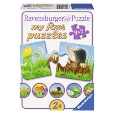 Puzzle animale de gradina, 9x2 piese, RAVENSBURGER Puzzle Copii