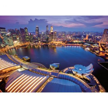 Puzzle orizontul orasului Singapore, 1000 piese, RAVENSBURGER Puzzle Adulti