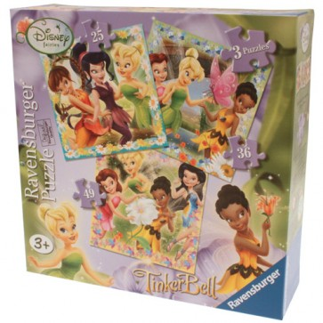Puzzle zanele Disney, 3 buc., 25/36/49 piese, REVENSBURGER