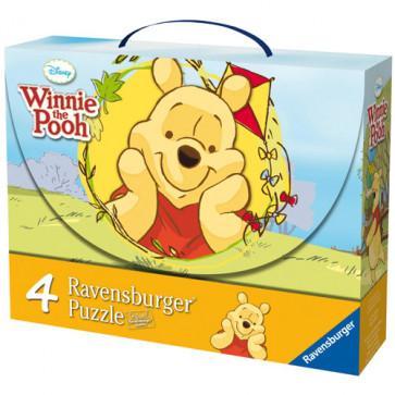 Puzzle Winnie si fluturii, 2x25 piese/2x36 piese, RAVENSBURGER