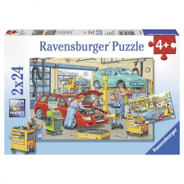 Puzzle vulcanizare si benzinarie, 2x24 piese, RAVENSBURGER