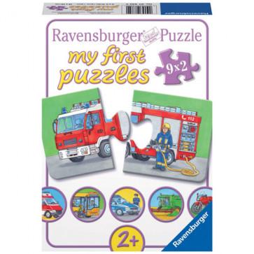 Puzzle vehicule motorizate, 9x2 piese, RAVENSBURGER Puzzle Copii