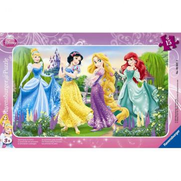 Puzzle Printesele Disney la plimbare, 15 piese, RAVENSBURGER Puzzle Copii