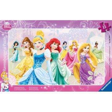 Puzzle Printesele Disney, 15 piese, RAVENSBURGER Puzzle Copii