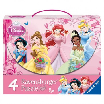 Puzzle printesele Disney, 2x64 piese/2x81 piese, RAVENSBURGER