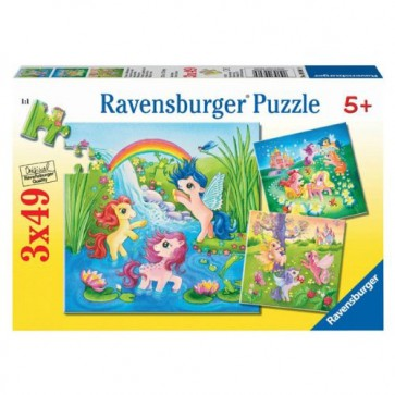 Puzzle ponei in lumea basmelor, 3x49 piese, RAVENSBURGER