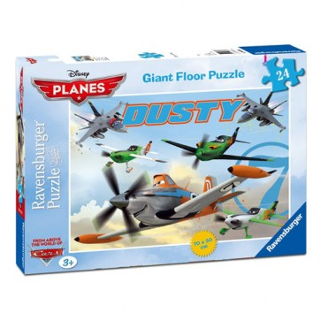 Puzzle Neinfricatul Dusty, 24 piese, RAVENSBURGER Puzzle Copii