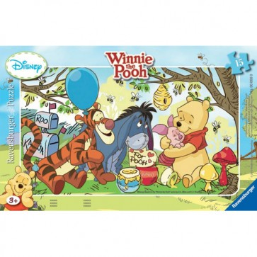 Puzzle Petrecerea lui Winnie, 15 piese, RAVENSBURGER Puzzle Copii