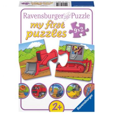 Puzzle pe santier, 9x2 piese, RAVENSBURGER Puzzle Copii