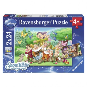 Puzzle cei sapte pitici, 2x24, RAVENSBURGER