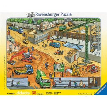 Puzzle constructii pe santier, 38 piese, RAVENSBURGER
