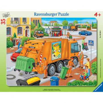 Puzzle masina de colectat gunoi, 35 piese, RAVENSBURGER