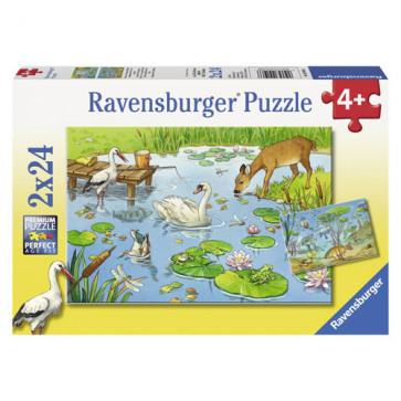 Puzzle lac, 2x24 piese, RAVENSBURGER