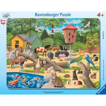 Puzzle la zoo, 47 piese, RAVENSBURGER