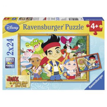 Puzzle Jake la vanatoarea de comori, 2x24 piese, RAVENSBURGER