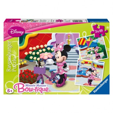 Puzzle Minnie Mouse, 3x49 piese, RAVENSBURGER