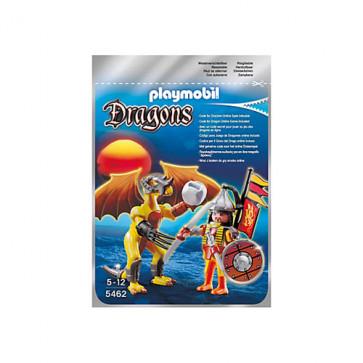 Dragonul pietrei cu luptator, PLAYMOBIL Dragons
