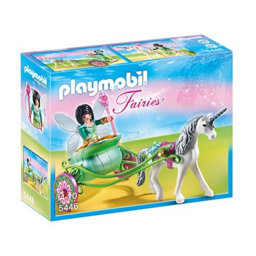 Trasura unicorn si zana fluture, PLAYMOBIL Fairies